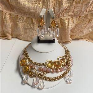 Costume beaded and rhinestone jewelry